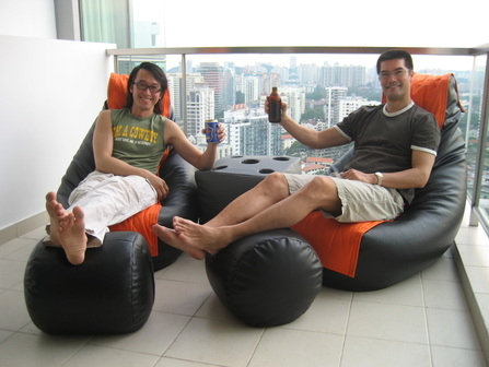 Beanbag Chair Rester on the balcony